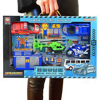 Children's Police Headquarters Simulation Toy Set