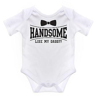 Nursery Time Baby Handsome Like My Daddy Short Sleeve Bodysuit