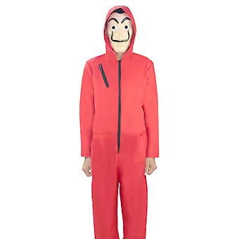 Clown Cosplay Costume Hoodie Red Jumpsuit Of The Paper House