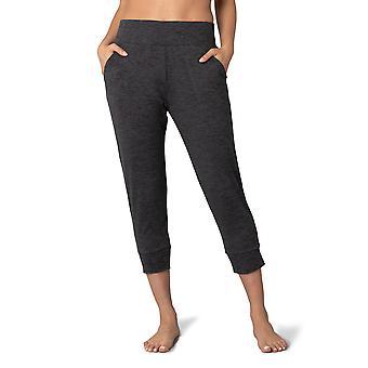 Womens Knit Pull On Capri Jogger Lounge Pants