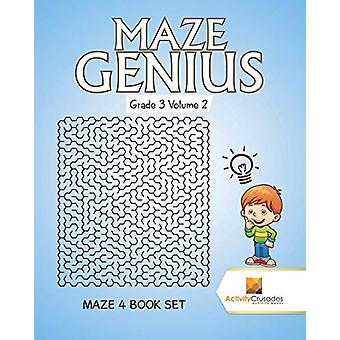 Maze Genius Grade 3 Volume 2 - Maze 4 Book Set by Activity Crusades -