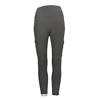 zuda Women's Pants Regular Leggings W/ Cargo Pockets Grey A386807