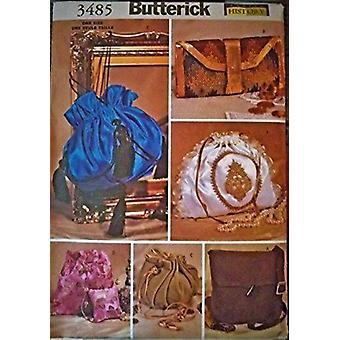 Butterick ompelu kuvio 3485 Kuusi historiallista käsilaukkua