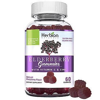 Herbion Elderberry Gummies with Vitamin C & Zinc - 60 gummies