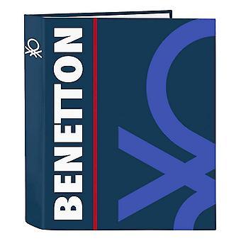 Ring binder Benetton Navy A4