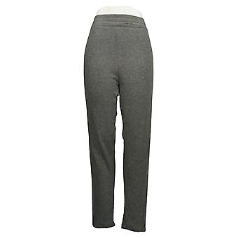 Cuddl Duds Kvinder's Bukser Plus Fleecewear Stretch Legging Grey A369295