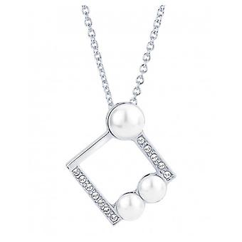 Traveller Pendant With Chain Rhodium Plated With Crystals From Swarovski - 38 Bis 44 Cm - 114183 - 605