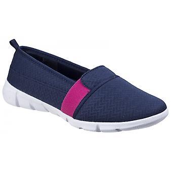 Vloot & Foster Canarische Dames Slip On Shoes Navy