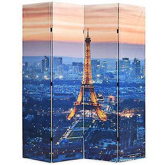 vidaXL huoneenjakaja taitettava 160 x 170 cm Pariisi yöllä