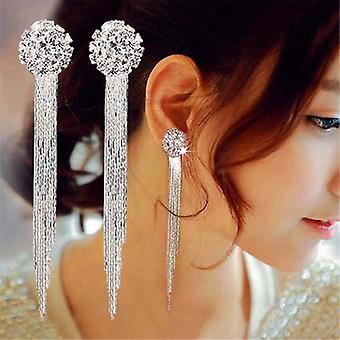 Fashion Jewelry Personality Temperament Crystal Tassel Earrings