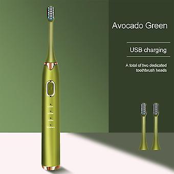 Sonic elektrische tandenborstel volwassen mondelinge schoon (groen)