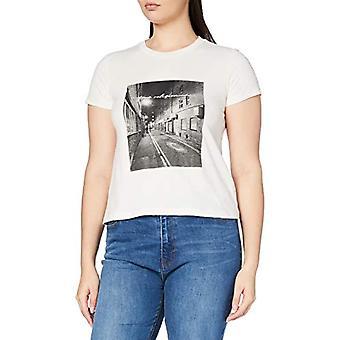 True Religion Street Scene Classic Crew T-Shirt, Steam Grey, M Woman