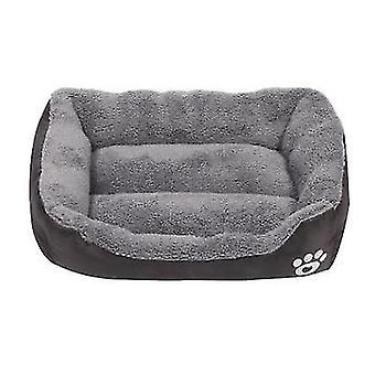 S 43 * 32cm café gato mascota, cama de perro, suave y cómodo nido de mascotas az21797