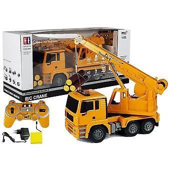 RC kraanwagen geel met vracht – 2.4G bestuurbaar – 1:20