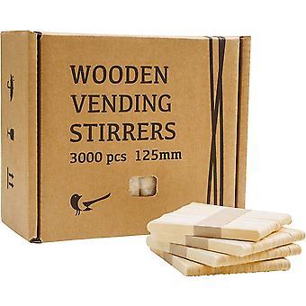 HanFei Eisstiele aus Holz, Löffel für Kaffee to go Becher, Einweg Holzstäbchen, Stäbchen fur