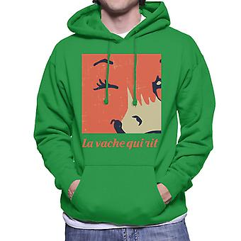 The Laughing Cow Close Up Wink Men's Hooded Sweatshirt