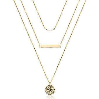Dainty Layered Choker Necklace, Multilayer Bar Disc Necklace For Women(Golden)
