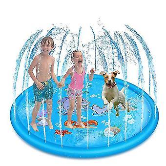 170/150/100cm Kinder Aufblasbare Wassersprühkissen Rundes Wasser Splash Play Pool Spielen Sprinklermatte