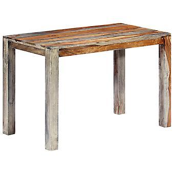 vidaXL Ruokapöytä Harmaa 118 x 60 x 76 cm Massiivipuu