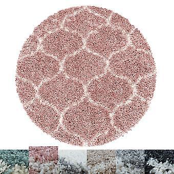 Sala de estar Carpet SALA High Pile Round Design Pattern Tile Jacquard