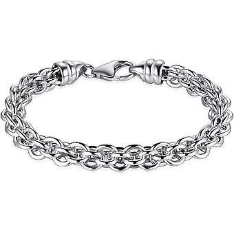 Hirs juveler - Halsband - Ring Fantasy - 7.6mm Bred - Längd 43cm - Gerhodineerd Zilver 925
