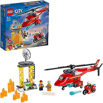 Lego 60281 City Fire Rescue Helicopter Toy with Motorbike