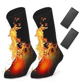 Chaussettes électriques chaussettes chauffées alimenté par batterie par temps froid chaussettes de chaleur chaussettes