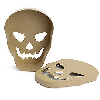 Single Skull Shape Papier Mache Box   Halloween Ambachten