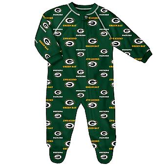 NFL Baby Zip Romper - RAGLAN Green Bay Packers