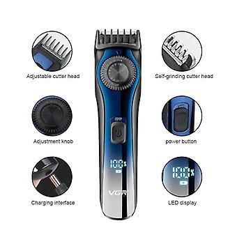 Display lcd digitale professionale trimmer per barba regolabile per uomo trimmer capelli ricaricabile 1-20mm tagliacapelli elettrico