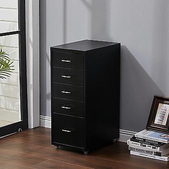 5 tiroirs armoire à fichiers verticaux avec roues