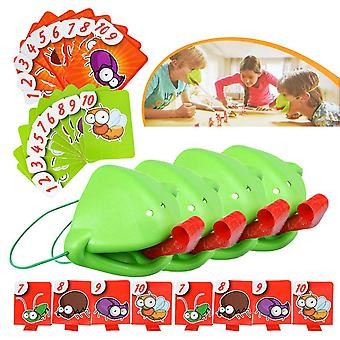 4szt 2021 Nowy Język Kameleon Frog Mouth Take Card Tongue Family Party Toy Be Quick To Lick Cards Toy Set Funny Board Game