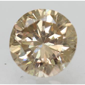 Cert 0,63 karat ruskea keltainen VS1 pyöreä loistava parannettu luonnollinen timantti 5,44mm