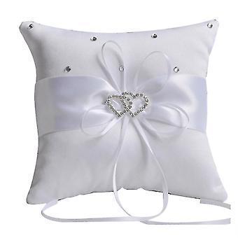 Flower Wedding Ring Pillow 15x15cm Rinestone Valentine's Day Gift Pillow Cushion Holder