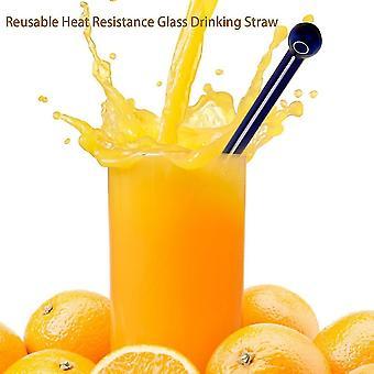 Fashionable Reusable Heat Resistance Glass Fruit Juice Milk Drinking Straw