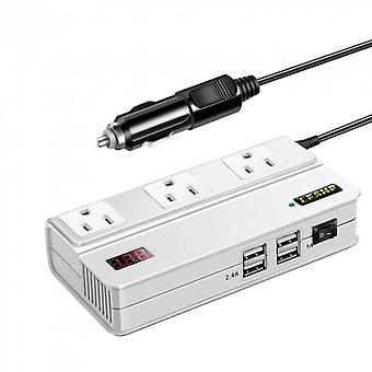 Leshp 200w Power Inverter Adapter Dc 12v To Ac 110v With 4.2a 4usb Car Charger