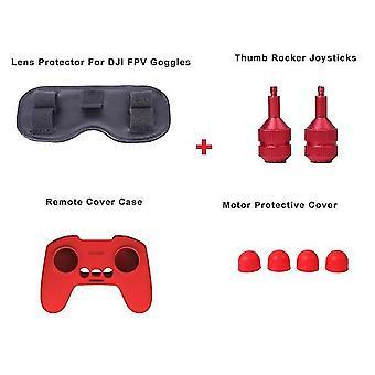Dji fpv drone accessories propeller guards  thumb rocker joysticks yagi antenna landing gear for dji