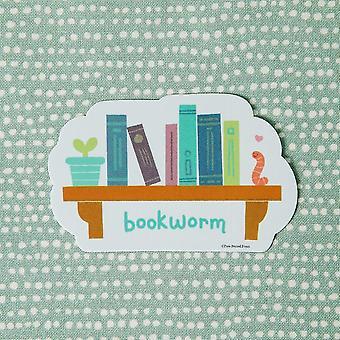 Bookworm Print Vinyl Decal Sticker
