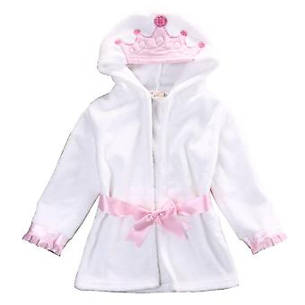 Krásne dieťa kreslený župan s kapucňou Detské batoľa kúpací uterák šaty