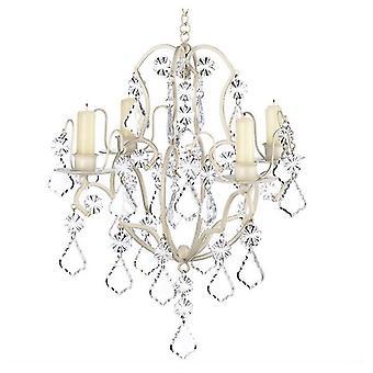 Galéria Light Jeweled Elefántcsont gyertya csillár, Pack of 1