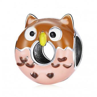 Sterling Silber Charm Eule Donut - 7195