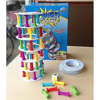 Venalisa Pizza Tower Collapse Funny Toy Learn Education Kid Plastic Happy Family Toy|tower Stacking Game