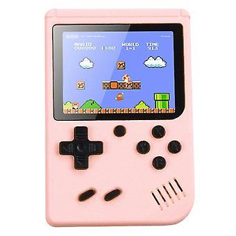 (Rosa) Console retrò portatile Gameboy 500 Giochi classici Regalo per bambini