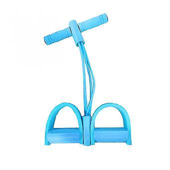 Упражнения бандажа 4 трубки натяжение веревка мужчины женщины сидят тянуть веревку сильный фитнес сопротивление полосы латекс педаль йога