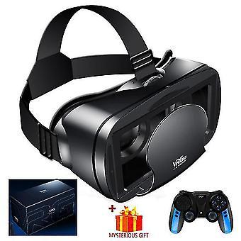 Wirtualna rzeczywistość 3d vr zestaw słuchawkowy inteligentne okulary kask do smartfonów telefon komórkowy 7 cali soczewki