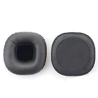 2Pcs Kunstleder + Memory Foam Soft Kopfhörer Jacke Ohrenschützer für Marshall MID ANC Bluetooth,