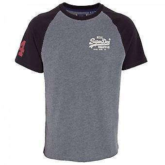 Superdry Vl Ac Raglan T-shirt Rich Charcoal Marl