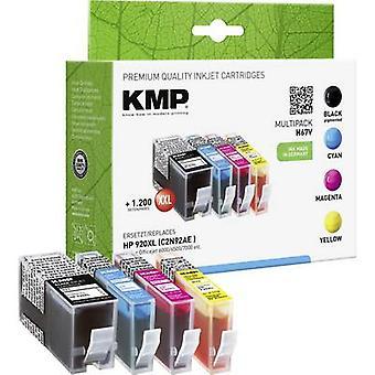 Tinta KMP sustituye HP 920XL Compatible conjunto negro, ciánico, Magenta, amarillo H67V 1717,0055
