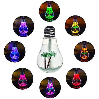 Usb Air Humidifier Bulb With 7 Colors Lamp Shape For Office Desk Bedroom Car