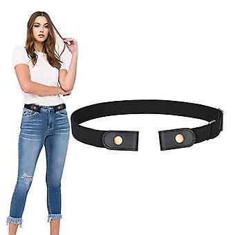 Inget spänne Stretch Belt Buckless Belt Osynlig Elastisk Midja Bälte Unisex För Jeans Byxor